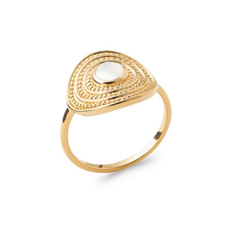 Δαχτυλίδι Brass Επίχρυσο 18Κ Oxford Street 2272