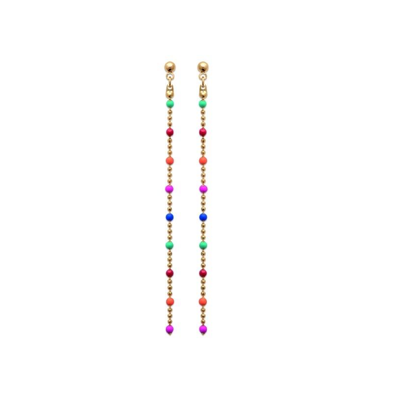 Σκουλαρίκια Brass Επίχρυσα 18Κ  Oxford Street2559405