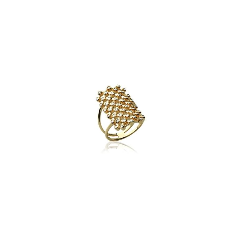 Δαχτυλίδι Brass Επίχρυσο 18Κ Oxford Street 220841