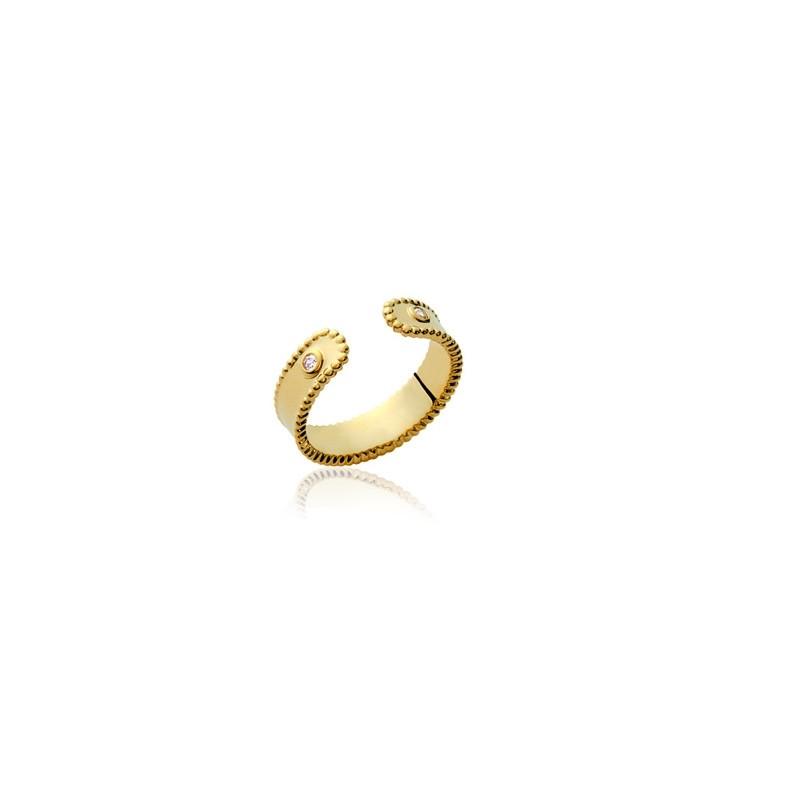 Δαχτυλίδι Brass Επίχρυσο 18Κ Oxford Street 2238310