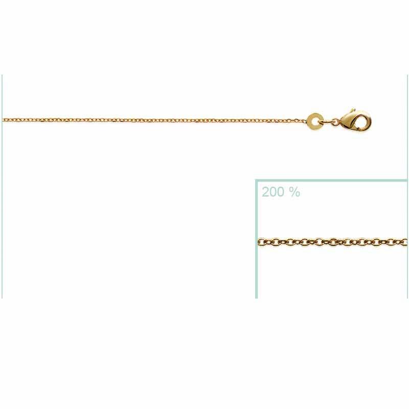 Αλυσίδα Brass Επίχρυση18Κ Oxford Street 80cm 22504080