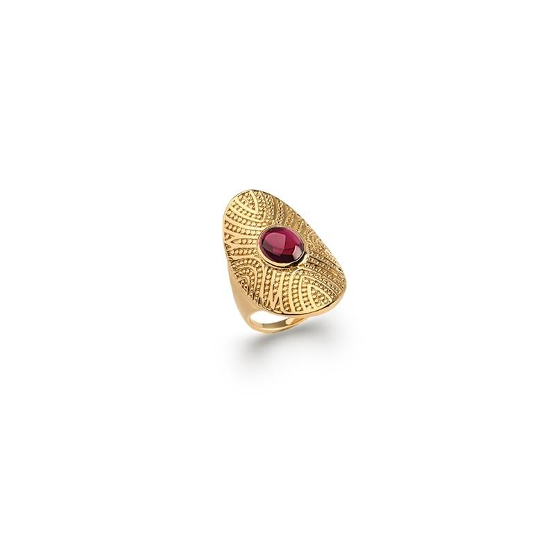 Δαχτυλίδι Brass Επίχρυσο 18Κ Oxford Street 227452
