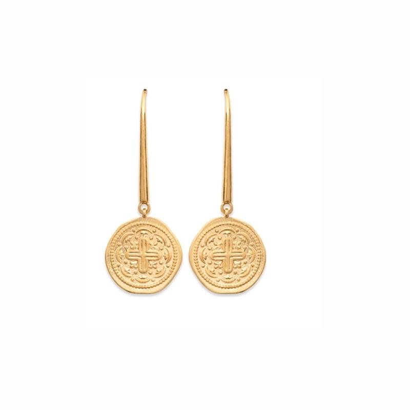 Σκουλαρίκια Brass Επίχρυσα 18Κ  Oxford Street 2560100