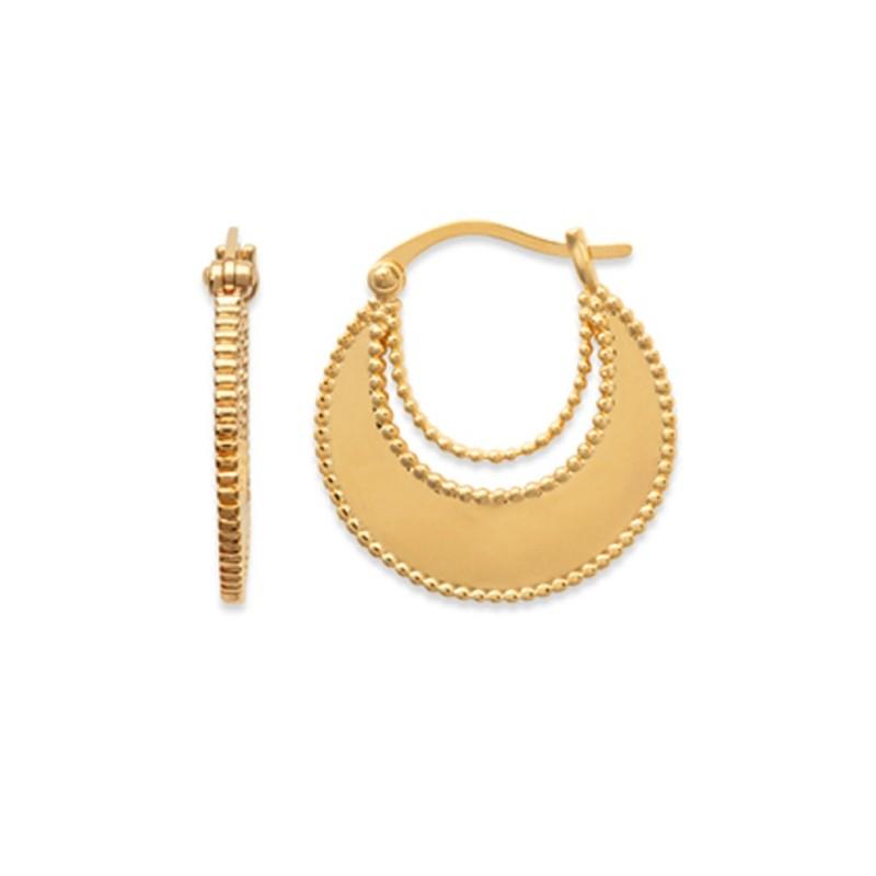 Σκουλαρίκια Κρίκοι Brass Επίχρυσα 18Κ  Oxford Street 262120