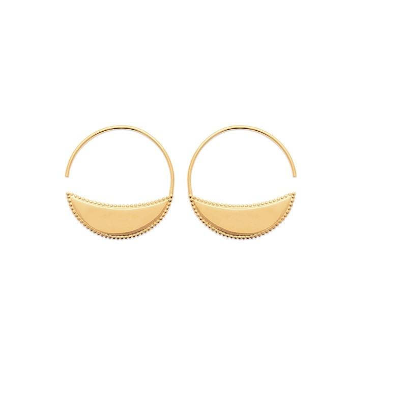 Σκουλαρίκια Κρίκοι Brass Επίχρυσα 18Κ  Oxford Street 2624300